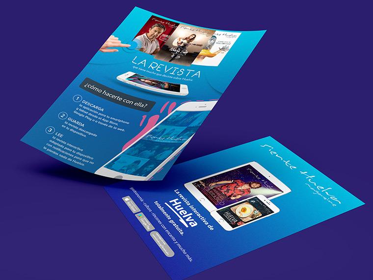 Diseño flyer revista Siente Huelva